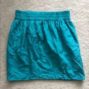 Club Monaco teal cotton silk skirt medium